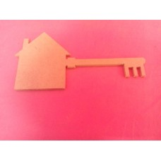 4mm MDF Key with house